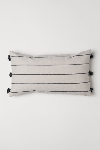 Jacquard-weave cushion cover - Natural white - Home All | H&M IE