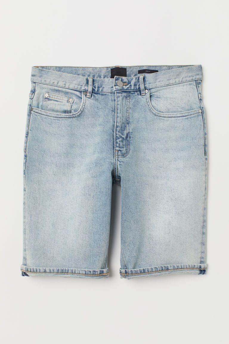 Slim Denim Shorts - Light denim blue -  | H&M