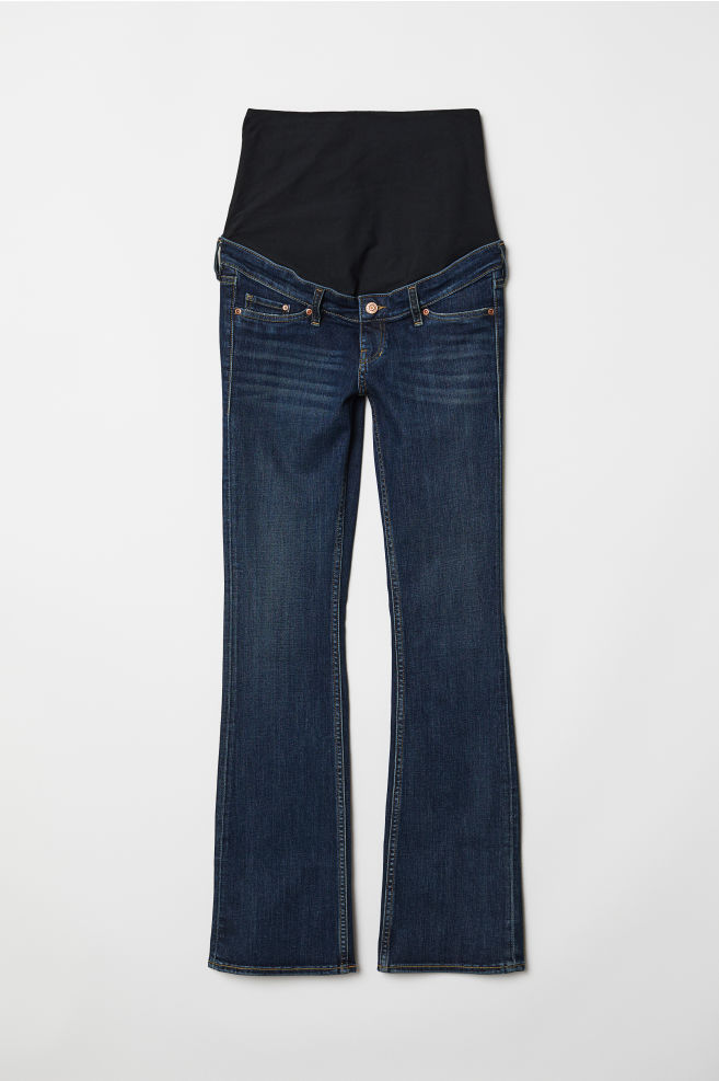 7301b393349 MAMA Bootcut Jeans - Dark denim blue - Ladies | H&M ...