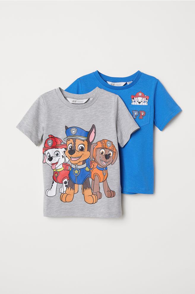 bab711f0bf195 2-pack T-shirts - Blue/Paw Patrol - Kids | H&M US
