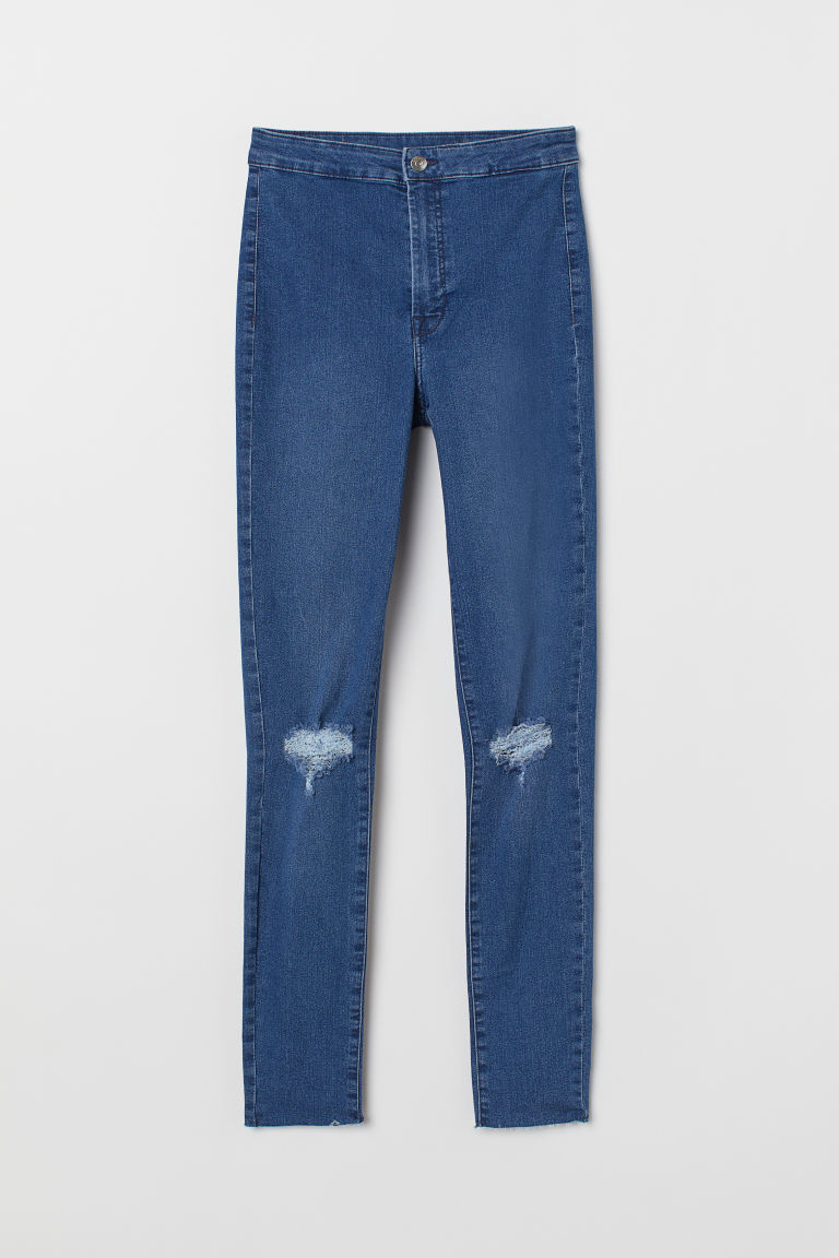 Super Skinny Ankle Jeggings - Farmerkék/szakadt -  | H&M HU
