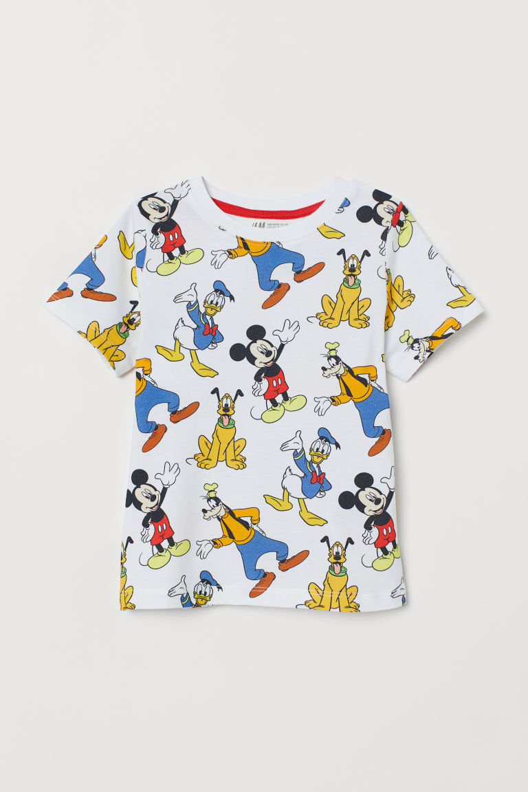 Printed T-shirt - White/Mickey Mouse - Kids | H&M IE