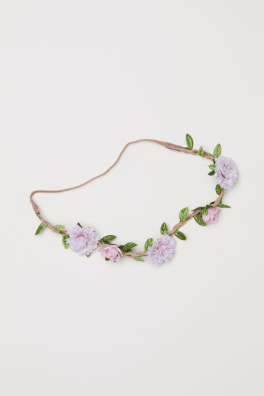 Hairband with flowers - Light pink - Ladies | H&M