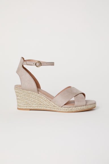 Wedge-heel sandals - Light mole - Ladies | H&M