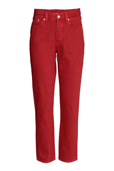 Vintage High Cropped Jeans - Red - Ladies | H&M CN