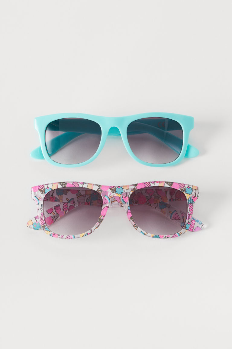 2-pack sunglasses - Turquoise/Pink - Kids | H&M GB