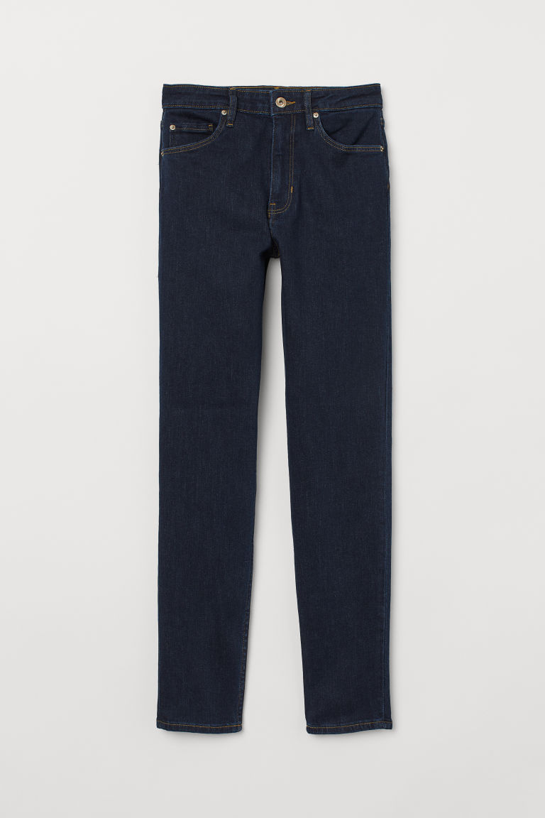 Skinny High Jeans - Donkerblauw - DAMES | H&M BE