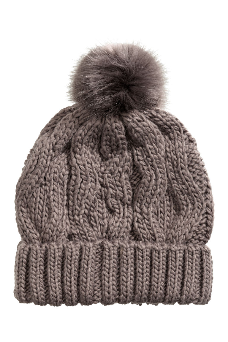 Cable-knit hat - Mole - Ladies | H&M