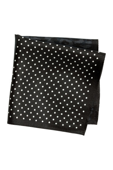 Patterned silk handkerchief - Black/Block-patterned -  | H&M