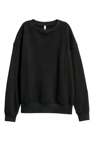 Oversized sweatshirt - Black -  | H&M