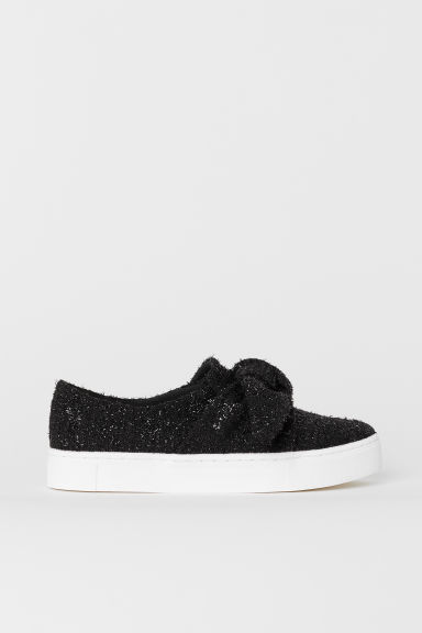Slip-on trainers - Black/Glittery - Ladies | H&M