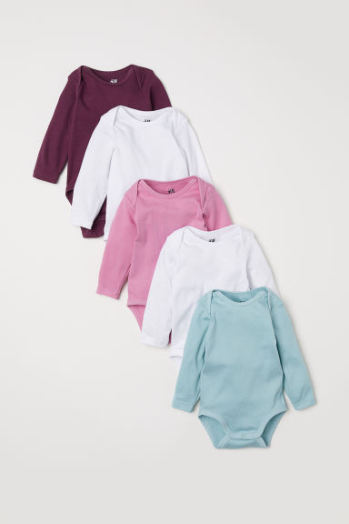 5-pack bodysuits - Pink/Turquoise - Kids | H&M