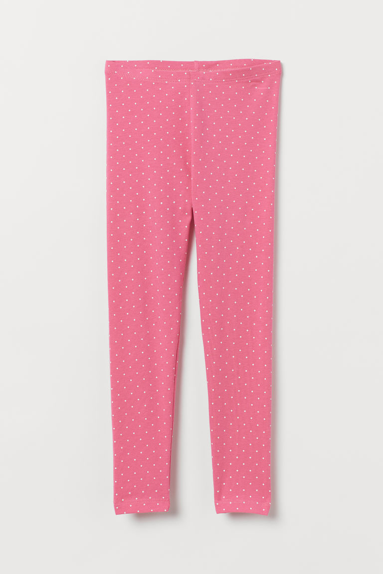 Leggings - Pink/White spotted - Kids | H&M GB