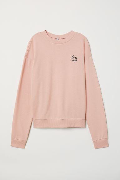 Sweatshirt - Old rose/Lovers - Ladies | H&M GB