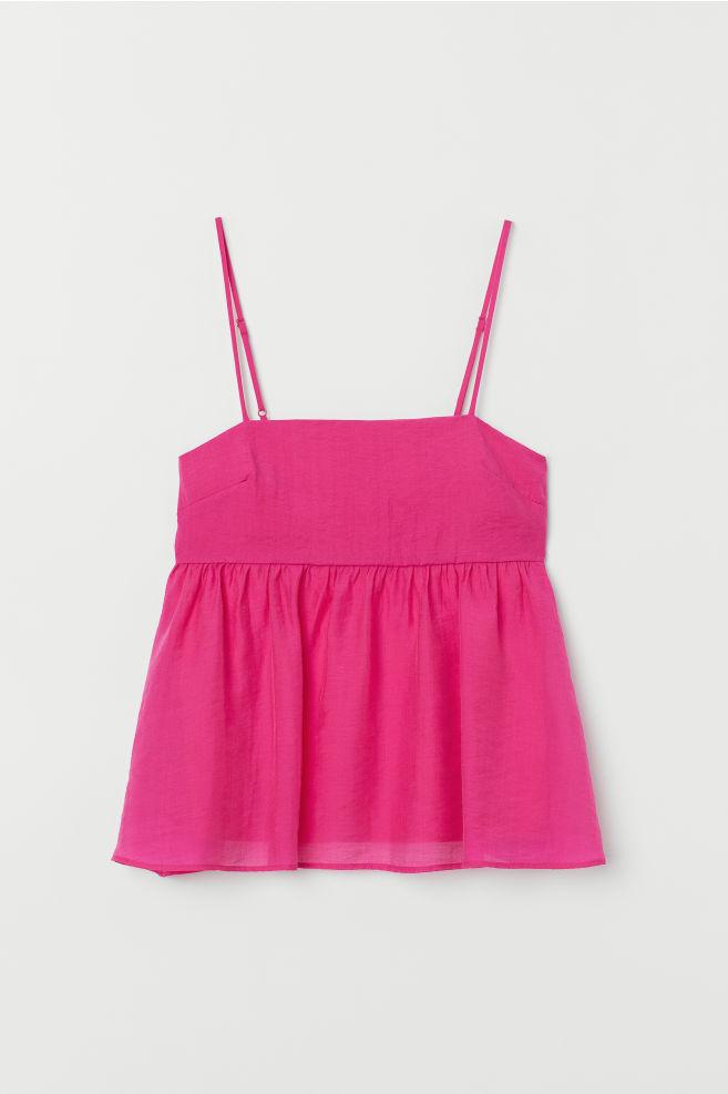 547f49b3 Lyocell-blend top - Dark pink - Ladies | H&M 1