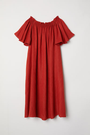 Off-the-shoulder dress - Red-orange - Ladies | H&M