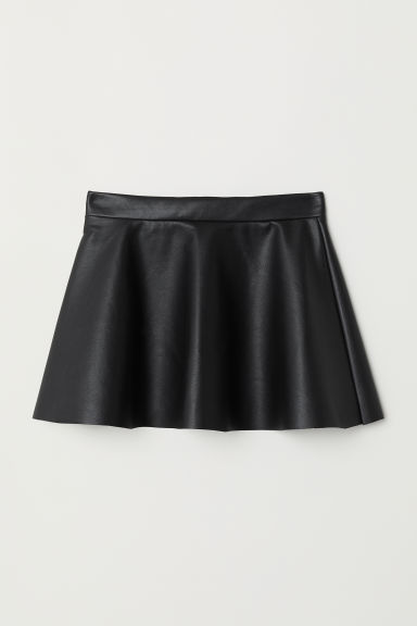 Imitation leather skirt - Black - Kids | H&M