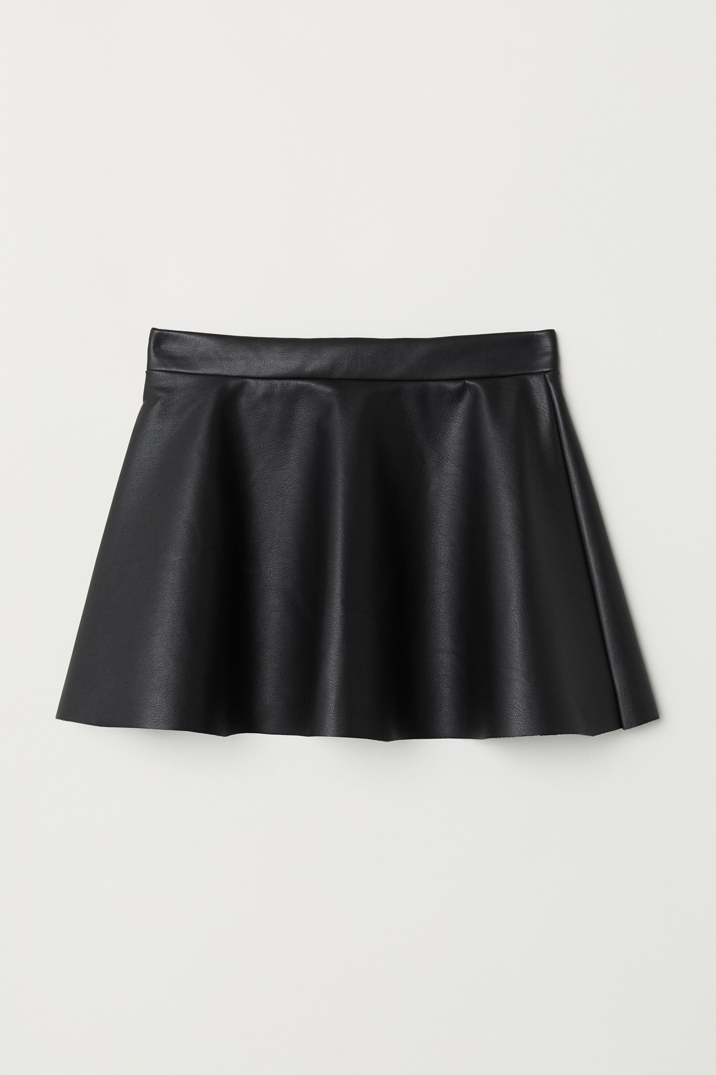 8c2e0c0f4 Faux Leather Skirt - Black - Kids | H&M US