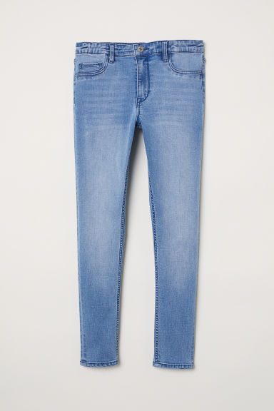 Skinny Fit Generous Size Jeans - Light denim blue - Kids | H&M CN