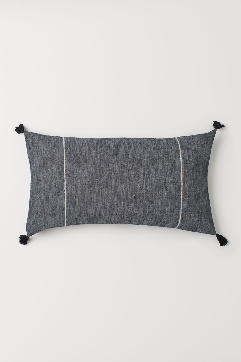 Copricuscino con nappine - Grigio antracite - HOME | H&M IT
