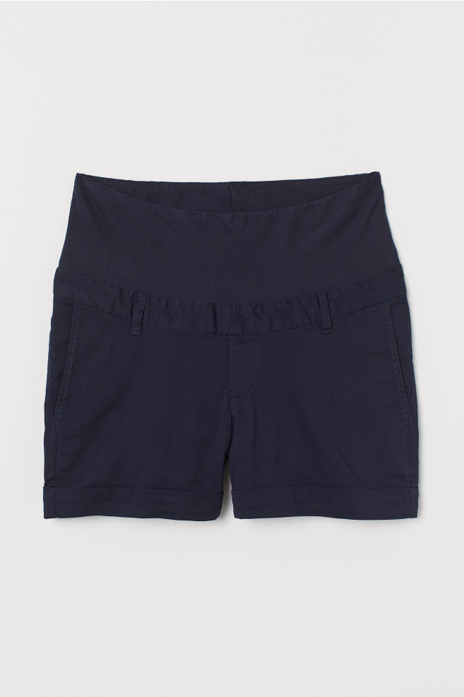 8692c068f1 MAMA Cotton chino shorts - Dark blue - Ladies | H&M ...