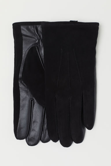 Suede gloves - Black - Men | H&M CN