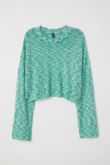 Short jumper - Green marl - Ladies | H&M