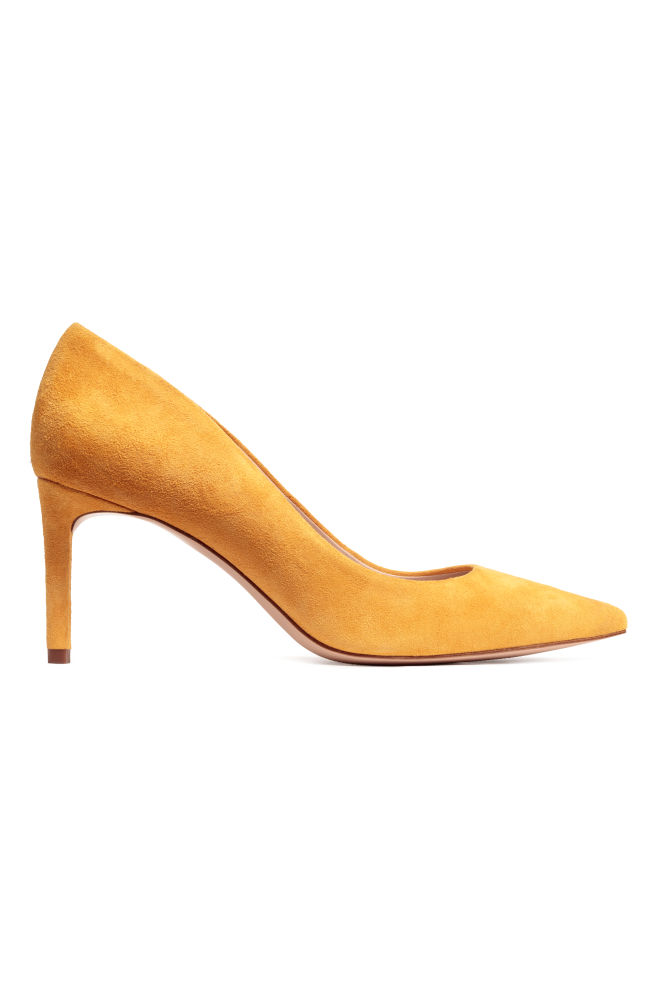 d4d9141aea7 Pumps - Mustard yellow suede - Ladies