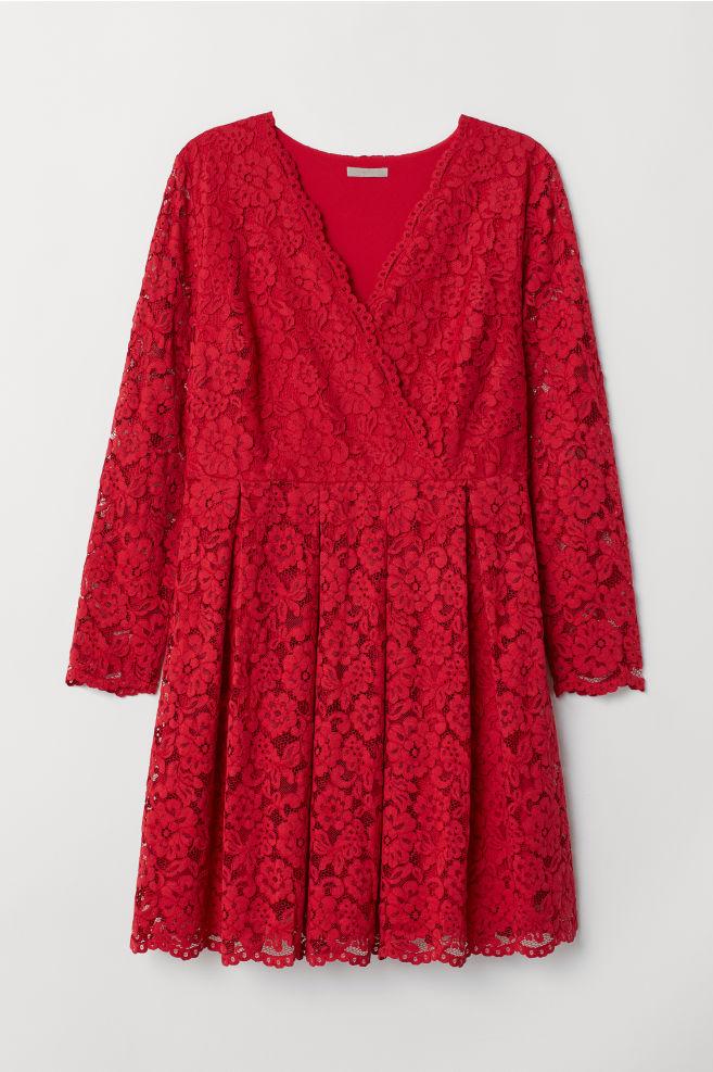 40b32070bce0 H&M+ Spetsklänning - Röd - DAM | H&M ...