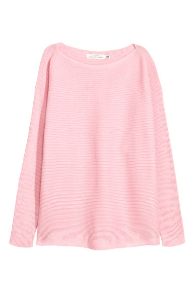 Rib-knit jumper - Light pink - Ladies | H&M