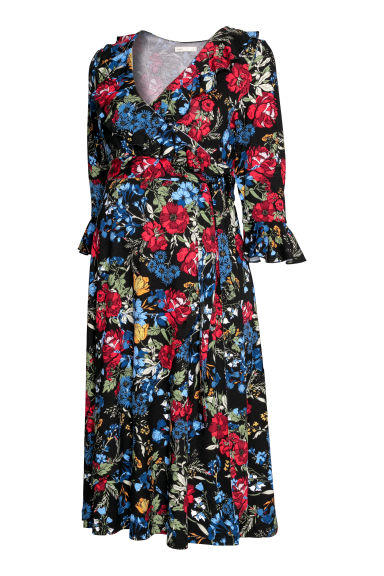 MAMA Dress - Black/Floral -  | H&M