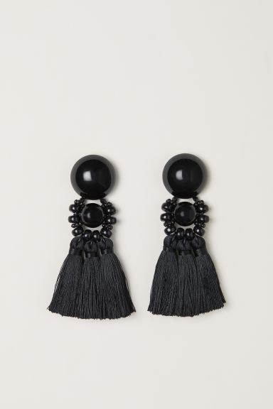 Large earrings - Black -  | H&M CN