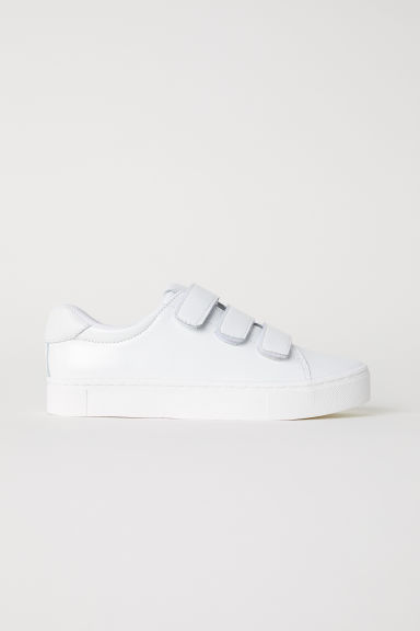 Patent leather trainers - White - Ladies | H&M CN