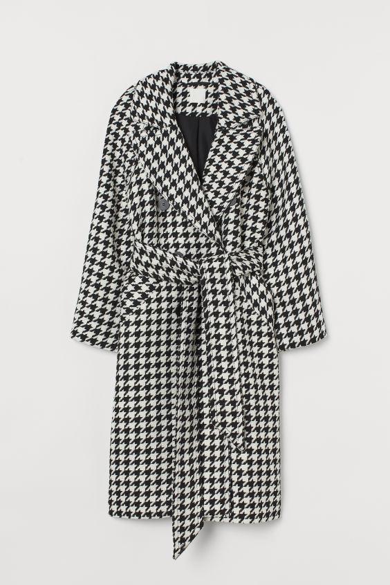 Manteau à motif pied-de-poule - Noir/motif pied-de-poule - FEMME | H&M FR 5