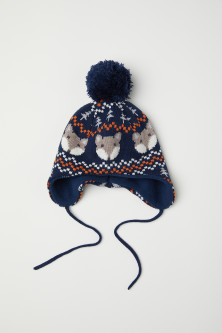 Jacquard-knit hat