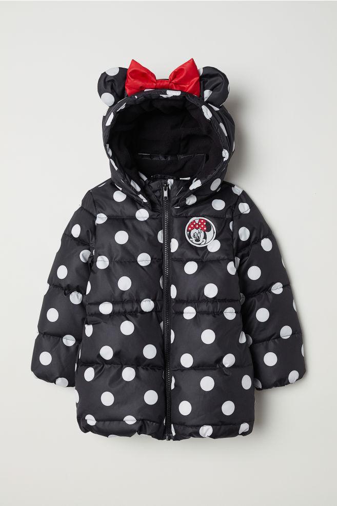 16b92596810 Padded jacket - Black/Minnie Mouse - Kids   H&M ...