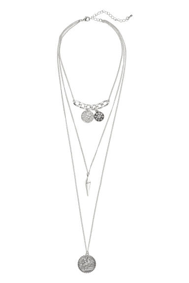 Three-strand necklace - Silver-coloured -  | H&M