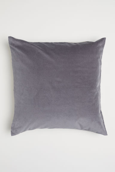 Linen and velvet cushion cover - Grey/Beige - Home All | H&M CN