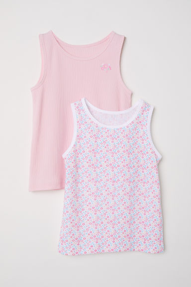 2-pack vest tops - Light pink - Kids | H&M