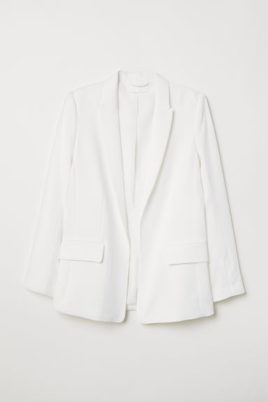 Straight-cut jacket - White - Ladies | H&M