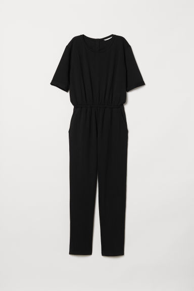 Short-sleeved jumpsuit - Black - Ladies | H&M CN