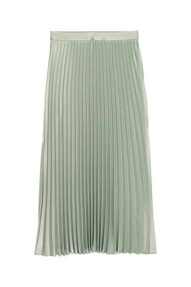 Pleated skirt - Light green - Ladies | H&M
