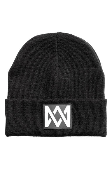Fine-knit hat - Black/Marcus & Martinus - Kids | H&M CN