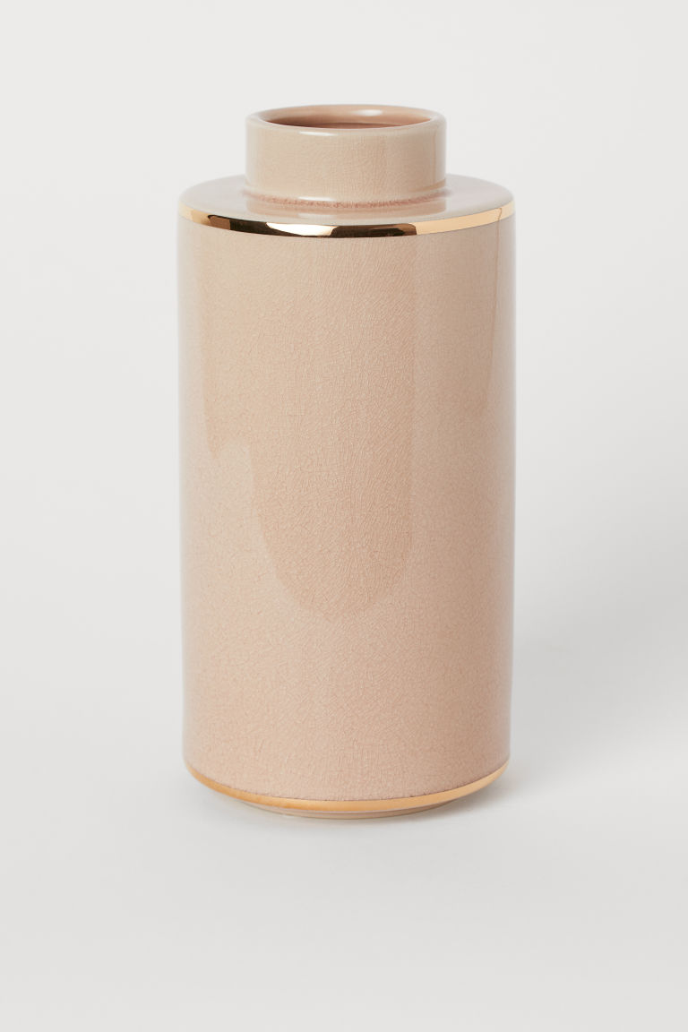 Tall ceramic vase - Dusky pink - Home All | H&M CN