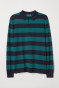 Dark blue/green striped