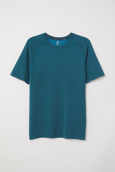 Seamless running top - Petrol - Men | H&M