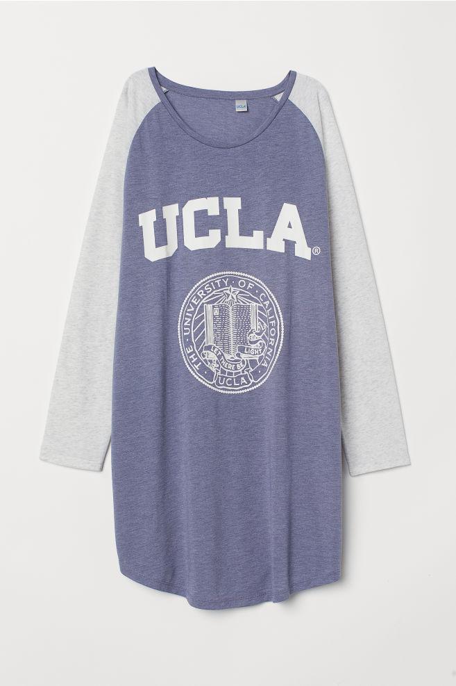 95021d27c H&M+ Nightgown - Blue melange/UCLA - Ladies   H&M ...
