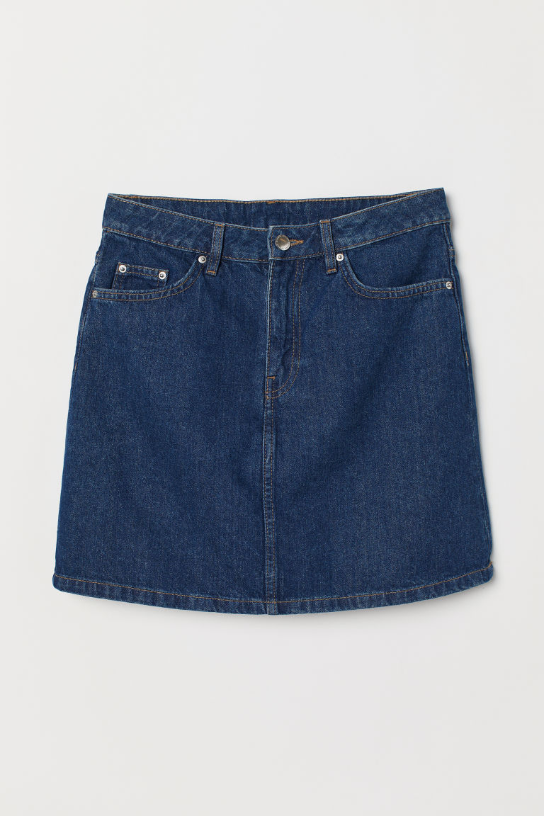 Denim skirt - Dark denim blue -  | H&M GB