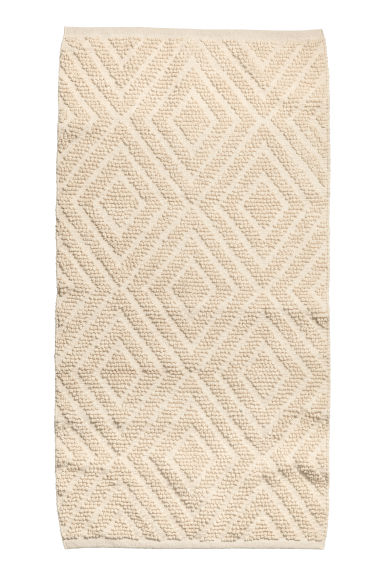 Wool-blend rug - Natural white - Home All | H&M GB
