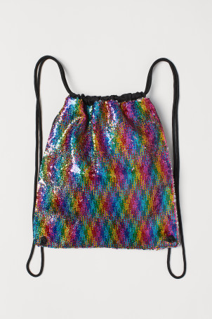 Bag with reversible sequinsModel